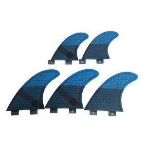 UPSURF Honeycomb Thruster / Quad FCS Compatible Surfboard Fins - Blue