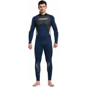 Cressi Men's 3:2mm Full Wetsuit - Blue : White