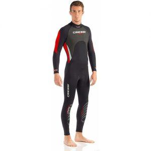 Cressi Men's 3:2mm Full Wetsuit - Red